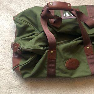 HIGH SIERRA canvas and leather duffel bag